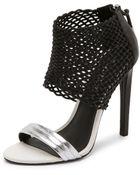 L.A.M.B. Bishop Sandals - Black/Silver - Lyst