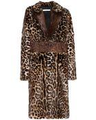 Givenchy Leopard-Print Fur Coat - Lyst