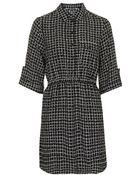 Topshop Grid Print Shirt Dress - Lyst