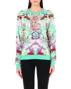Mary Katrantzou Cotton-Jersey Abstract Print Sweatshirt - For Women - Lyst