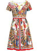 Dolce & Gabbana Printed Cotton Sun Dress - Lyst