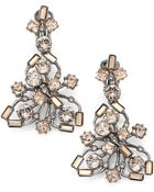 Oscar de la Renta Firework Crystal Clip-On Drop Earrings - Lyst