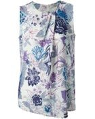 Etro Floral Print Sleeveless Top - Lyst