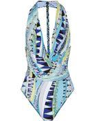 Emilio Pucci Printed Swimsuit - Lyst