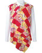 Comme Des Garçons Homme Plus Printed Contrast Shirt - Lyst