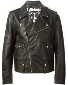 Golden Goose Deluxe Brand Distressed Biker Jacket - Lyst