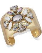 Inc International Concepts Gold-Tone Ornate Stone Cuff Bracelet - Lyst