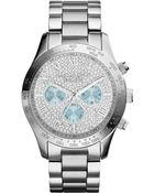 Michael Kors Women'S Chronograph Layton Stainless Steel Bracelet Watch 44Mm Mk6076 - Lyst