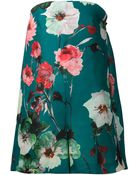 Delpozo Floral Strapless Playsuit - Lyst