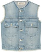 Textile Elizabeth And James Dest Sid Stretch-Denim Vest - Lyst