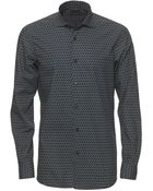 Ermenegildo Zegna Navy Poplin Cotton Cycle Shirt - Lyst