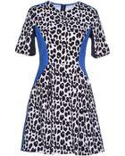 Three Floor Short Dress - Lyst