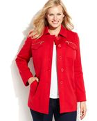 Inc International Concepts Plus Size Single-Breasted Walker Coat - Lyst