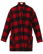 Etoile Isabel Marant Gabrie Check Wool-blend Coat - Lyst