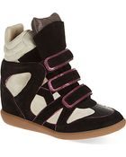Isabel Marant Wila Wedge Trainers - Lyst