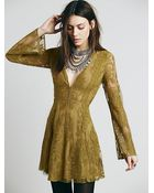 Free People Womens Reign Over Me Lace Dress - Lyst