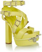 Versace Leather Sandals - Lyst