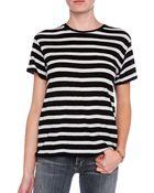 R13 Striped Boy Tee - Lyst