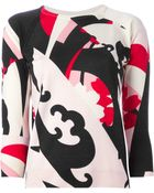Alexander McQueen 'Kansai Kite' Intarsia Sweater - Lyst