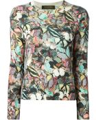Valentino Butterfly Intarsia Sweater - Lyst