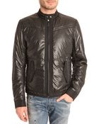 Diesel J-Malkia Black Nylon Padded Jacket - Lyst