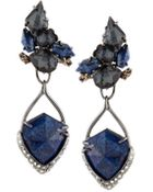 Alexis Bittar Lapis & Hematite Clip Earrings - Lyst