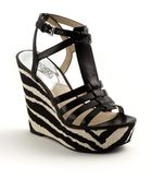 MICHAEL Michael Kors Georgie Leather Wedge Sandals - Lyst