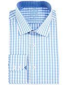 English Laundry Gingham Check Woven Dress Shirt - Lyst