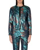 Maje Metallic Jacket - Lyst