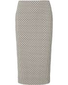 Kaelen Two Tone Jersey Pencil Skirt - Lyst