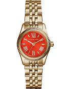 Michael Kors Mk3284 Lexington Gold-Toned Stainless Steel Watch - Lyst