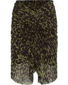 Etoile Isabel Marant Coleen Ruched Leopard-Print Crepe Skirt - Lyst