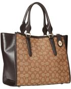 Coach Signature Crosby Carryall - Lyst