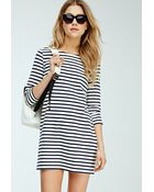 Forever 21 Nautical-Striped Shift Dress - Lyst