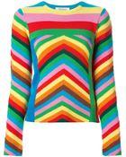 Valentino 1973 Chevron Sweater - Lyst
