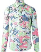 Kenzo Abstract Stripes Shirt - Lyst