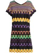 Missoni Mixed Print Viscose Dress - Lyst