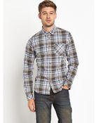 Bench Mens Check Shirt - Lyst
