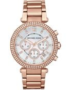 Michael Kors Parker Rose Gold-Tone Watch - Lyst