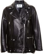 Acne Studios Oversized Leather Jacket - Lyst