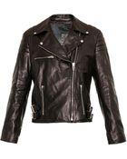 McQ by Alexander McQueen Leather Biker Jacket - Lyst