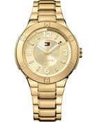 Tommy Hilfiger Women'S Gold Ion-Plated Stainless Steel Bracelet Watch 40Mm 1781450 - Lyst