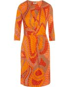 Issa Printed Silk-Jersey Dress - Lyst