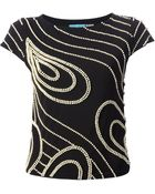 Alice + Olivia Embellished Pearl Tshirt - Lyst