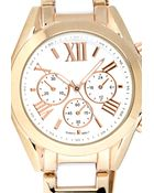 Forever 21 Two-Tone Chrono Watch - Lyst