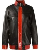 Anthony Vaccarello Patent And Nappa Leather Jacket - Lyst