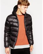 Brave Soul Padded Jacket With Hood Shiny - Lyst
