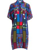 Peter Pilotto Printed Silk Kaftan - Lyst