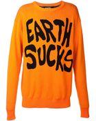 Jeremy Scott 'Earth Sucks' Sweater - Lyst