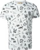Maison Kitsuné Paris-Print T-Shirt - Lyst